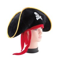 Pirate Captain Hat Skull Topi Bajak Laut halloween jack sparrow