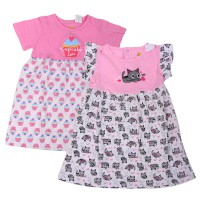 Dress Anak House Of MC KITTY || CUPCAKE || BAHAN KATUN || NYAMAN DIPAKAI || MOTIF LUCU
