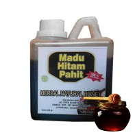 Madu Hitam Pahit Herbal Natural Honey Halal 100% Madu Herbal 500gram