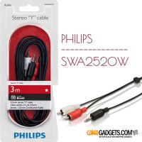 PHILIPS STEREO Y CABLE SWA2520W/10 3M JACK 3.5mm - 2 RCA