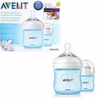 Avent Natural Bottle blue 125ml Twin