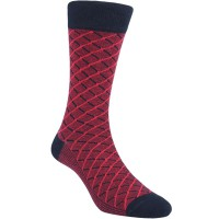 Kaos Kaki Marel Socks Life Style Men Crossline Plain MC1P-16-MS031 Red/Black