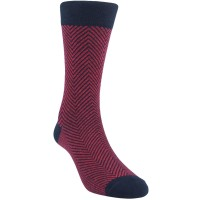Kaos Kaki Marel Socks Life Style Men Zed Plain MC1P-16-MS033 Red/Black