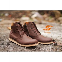 [TOP QUALITY] Island Shoes Man Luxury Shoes Boots Leather Brown