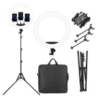 Ring Light RL-18 LED Complete Set Vlog Photography 3 Holder