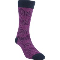 Kaos Kaki Marel Socks Life Style Men Floral Plain MC1P-16-MS043 Purple/Black