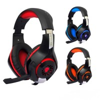 Rexus F55 Headset Gaming Vonix with Mic LED F-55 - Biru
