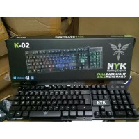 Keyboard Gaming NYK K-02 / K02 / K 02 Black Only