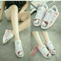 slip on sneakers casual hello kitty pink mo 16
