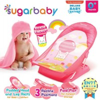 Sugar Baby Deluxe Baby Bather Roxie Rabbit Pink Alas Dudukan Mandi Bayi