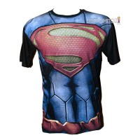 Kaos Distro Gambar 3D Superman Man Of Steell