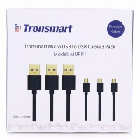 Tronsmart MUPP1 Kabel Data USB Cable Quick Fast Charging Gold Plated Smartphone 1 Meter 3 PCS