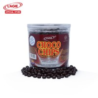 Lagie Choco Chips Hitam ½ Bulat Topping Ice Cream Kemasan Toples 400gr