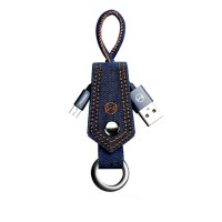 Mcdodo Denim Keychain Cable Kabel Data Micro USB