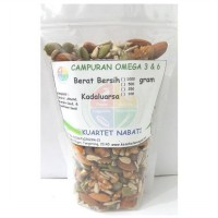 Campuran Omega 3  6 : Walnut - Almond - Pumpkin Seed - Sunflower Seed 250 Gr