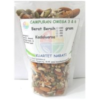 Campuran Omega 3  6 : Walnut - Almond - Pumpkin Seed - Sunflower Seed 500 Gr