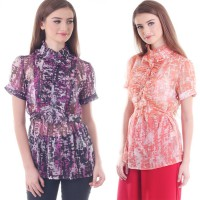 NYCO chiffon flower blouse