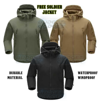 FREE SOLDIER Jaket Pria Water Resist Windcoat Windproof SIZE L