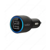 Belkin Dual USB Port Car Charger / Adapter Mobil for Samsung / Asus / Xiaomi - Hitam