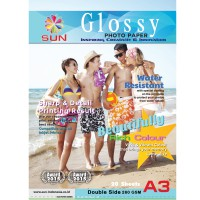 Kertas Foto A3 260 GSM Double Side - SUN NG Glossy Photo Paper