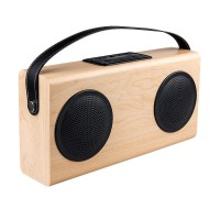 Tokuniku A006 Premium Mini Portable Bluetooth Speaker Light Wooden