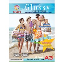 Kertas Foto A3 210 GSM Double Side - SUN NG Glossy Photo Paper