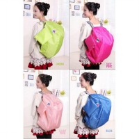 FIRSTPROJECT TAS RANSEL LIPAT UNISEX ICONIC 3 THREE WAY TRAVEL FOLDABLE BAG WITH CARRYING POUCH