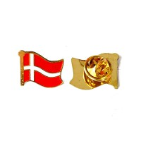 Pin Bendera Denmark - Flag Pin Denmark [2 Pcs]