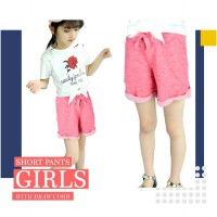 Girls Junior Shorts With Draw Cord Available In 4 Colors