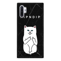 Ripndip White Cat With Midle Finger L0940 Samsung Galaxy Note 10 Plus Case