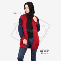 JAKET HIJACKET VARSITY - PREMIUM FLEECE - HJ-V2 Button ( Hijacket Varsity )