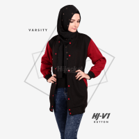 JAKET HIJACKET VARSITY - PREMIUM FLEECE - HJ-V1 Button ( Hijacket Varsity )