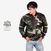 JAKET BOMBER - SCOUT PARACHUTE + QUILTING DOURMILL DACRON - ELITE FORCE ( EF ) SHOOTER MEN
