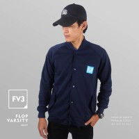 JAKET SWEATER - PREMIUM FLEECE - FV3 - FLOP VARSITY NAVY