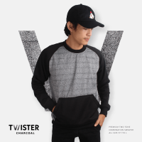 JAKET SWEATER - PREMIUM FLEECE + TWO TONE - TWISTER CHARCOAL