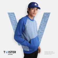 JAKET SWEATER - PREMIUM FLEECE + TWO TONE - TWISTER AZURE