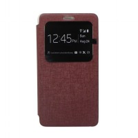 EXCELLENCE FLIP COVER ENIGMA SINGLE VIEW SAMSUNG NOTE 4 - BROWN