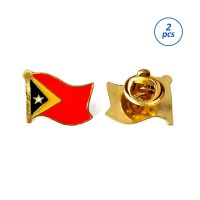 Mulyocreative Pin Bendera Timor Leste [2 pcs]