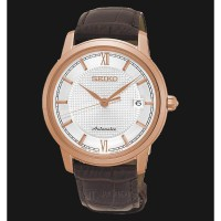 Seiko Presage SRPA16J1 Men Automatic Rose Gold Sapphire Crystal Calfsk