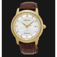 Seiko Presage SRPA14J1 Men Automatic Gold Case Sapphire Crystal Calfsk