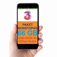 Three NONSTOP LTE 4G 6GB+60GB 4G 60Hari