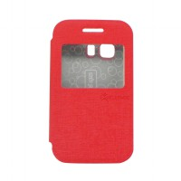 SAMSUNG GALAXY YOUNG 2 / G 130 H - EXCELLENCE FLIP COVER ENIGMA SINGLE VIEW - RED