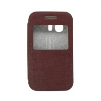 EXCELLENCE FLIP COVER ENIGMA SINGLE VIEW SAMSUNG GALAXY YOUNG 2 / G 130 H - BROWN