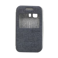 EXCELLENCE FLIP COVER ENIGMA SINGLE VIEW SAMSUNG GALAXY YOUNG 2 / G 130 H - GREY