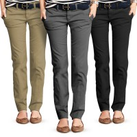 CELANA CHINOS WANITA | SEMI FORMAL | OFFICE LOOK | BAHAN KATUN TWIL STRETCH | BASIC CUT