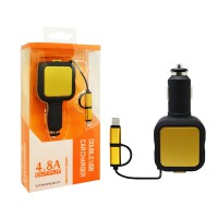 Charger Mobil Usb Double Usb 4.8a Output