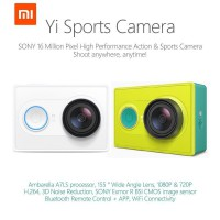 Xiaomi Xiaoyi Yi Sports Action Camera (Basic Edition) - Putih / Hijau + Gratis TRANSPARENT HARDCASE!