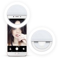 Rechargerable Selfie Ring Light LED Lampu Selfie Ring LED Selfie Ring Jepit Besar