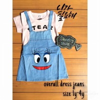 OVERALL DRESS SOFT JEANS/ OVERAL ANAK/ DRESS ANAK/ BAJU MONYET ANAK/ JEANS ANAK/ DRESS JEANS