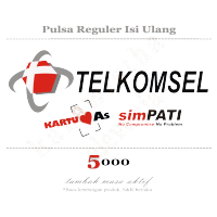 TELKOMSEL Pulsa 5000 5ribu 5k Reguler AS SimPATI TOP UP Isi Ulang Elektrik Tambah Masa Aktif